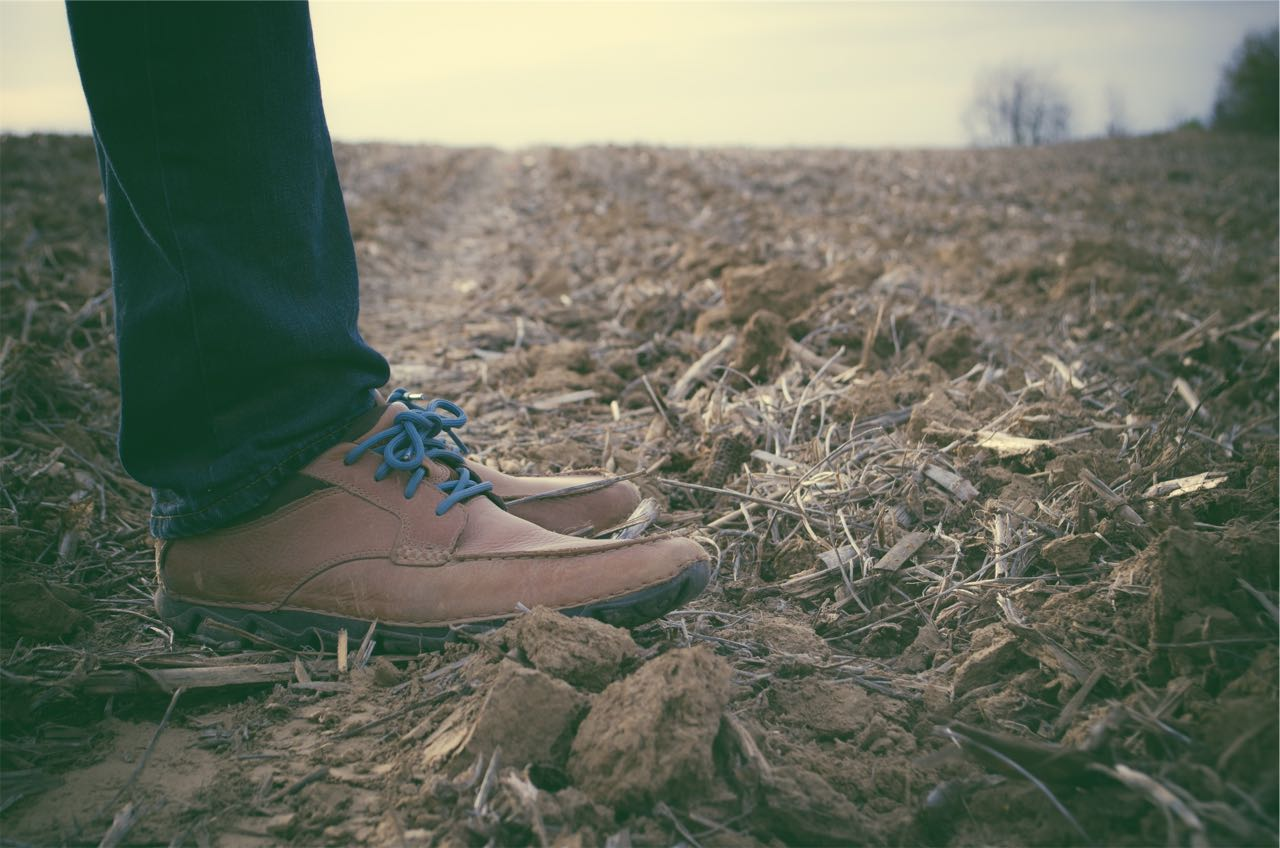 standing on dirt